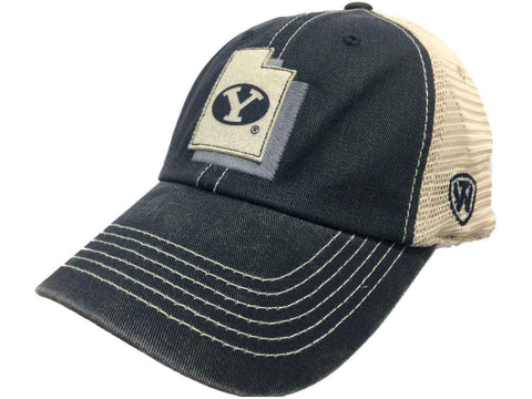 BYU Cougars TOW Navy United Mesh Adjustable Snapback Slouch Hat Cap
