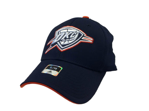 Oklahoma City Thunder Adidas Navy Blue Structured Fitted Hat Cap (S/M)