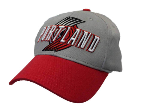 Portland Trail Blazers Adidas Light Gray Structured Fitted Hat Cap (S/M)