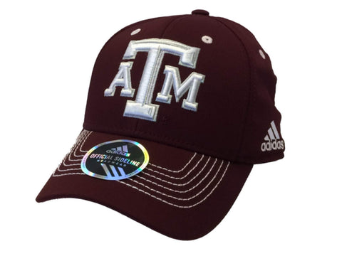 Texas A&M Aggies Adidas Maroon Structured Fitted Hat Cap (S/M)