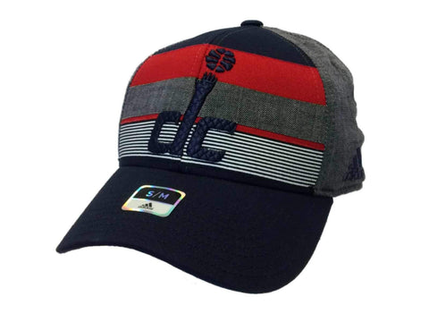 Washington Wizards Adidas Navy & Red Structured Fitted Hat Cap (S/M) - Sporting Up