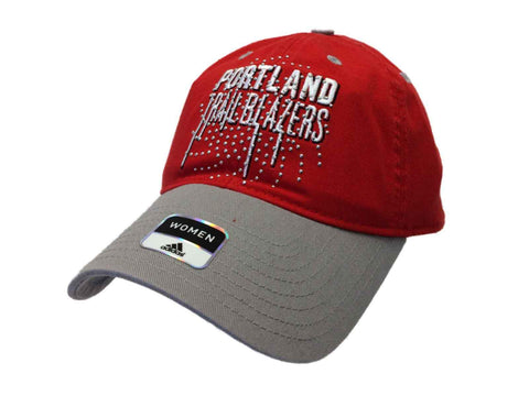Portland Trail Blazers Adidas WOMENS Red Studded Adjustable Slouch Hat Cap