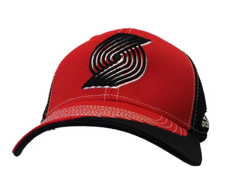 Portland Trail Blazers Adidas Red Black Structured Adjustable Hat Cap