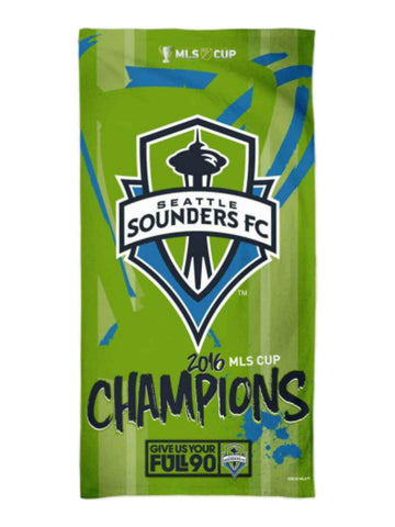"Seattle Sounders FC 2016 MLS Cup Champions Spectra Beach Towel (30""x60"")"