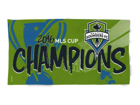 Seattle Sounders FC 2016 MLS Cup Champions Spectra Locker Room Bench Towel