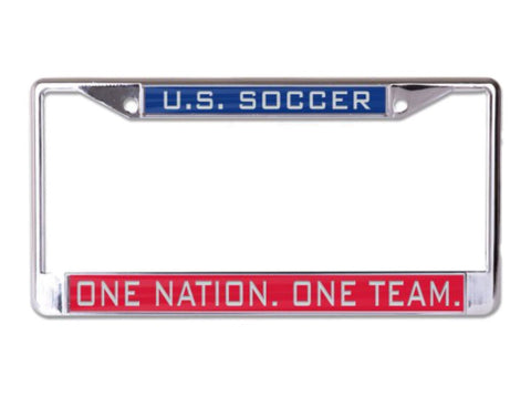 United States USA National Soccer One Nation One Team Inlaid License Plate Frame