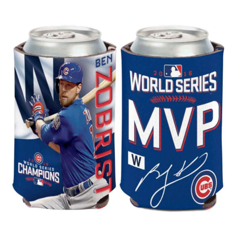 Chicago Cubs 2016 World Series Champions MVP Ben Zobrist Can Cooler