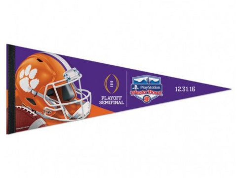 "Shop Clemson Tigers 2016 College Football Playoff Semifinal Felt Pennant (12"" x 30"")"