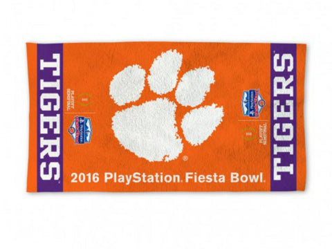 "Shop Clemson Tigers 2016 College Football Playoff Fiesta Bowl Bench Towel (22"" x 42"")"