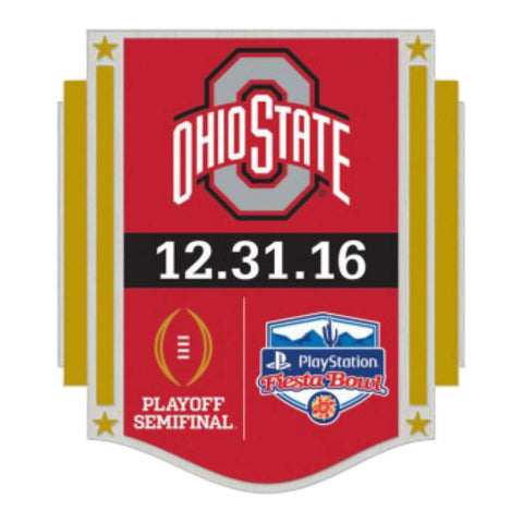 Ohio State Buckeyes 2016 Fiesta Bowl Playoff Semifinal 12.31.16 Metal Lapel Pin