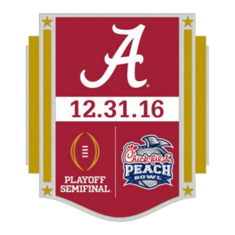 Alabama Crimson Tide 2016 Peach Bowl Playoff Semifinal 12.31.16 Metal Lapel Pin