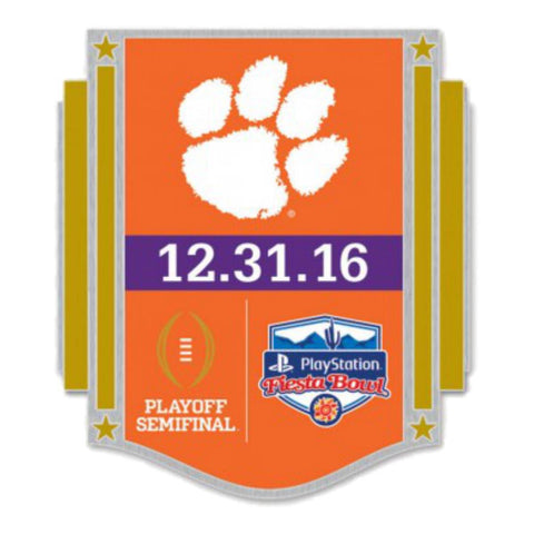 Shop Clemson Tigers 2016 Fiesta Bowl Playoff Semifinal 12.31.16 Metal Lapel Pin