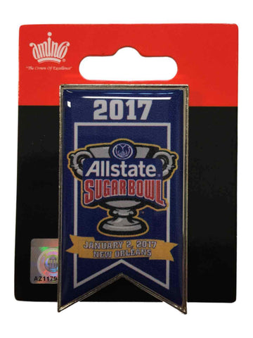Auburn Tigers Oklahoma Sooners 2017 Sugar Bowl Game Banner Collectible Metal Pin