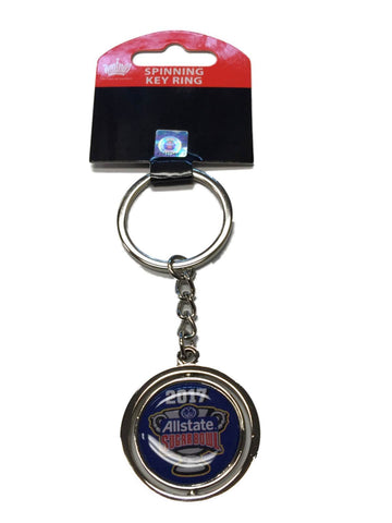 Auburn Tigers Oklahoma Sooners 2017 Sugar Bowl Chrome Spinning Keychain