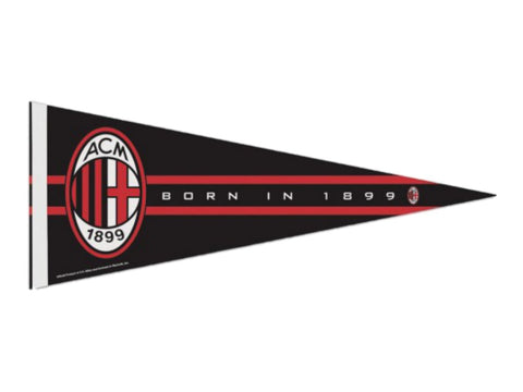 "Shop AC Milan WinCraft Black Red White ""ACM Born in 1899"" Premium Pennant (12""x30"")"