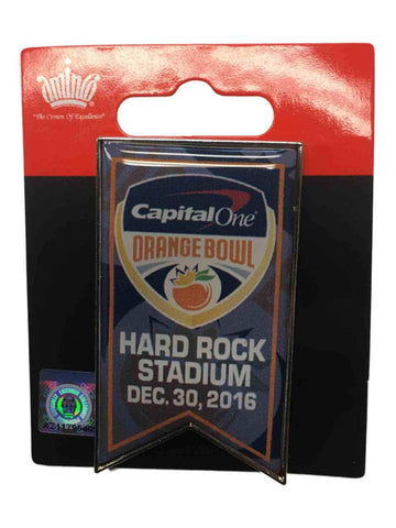 2016 Capital One Orange Bowl Hard Rock Stadium Aminco Event Banner Lapel Pin