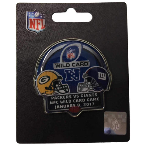 Green Bay Packers New York Giants 2016 Playoffs NFL NFC Dueling Helmet Team Pin