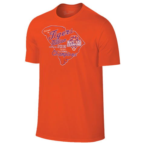 "Clemson Tigers 2016 College Football Champions ""Tiger Nation"" Orange T-Shirt"