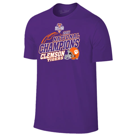 Clemson Tigers 2016 College Football National Champions Helmet Ball T-Shirt