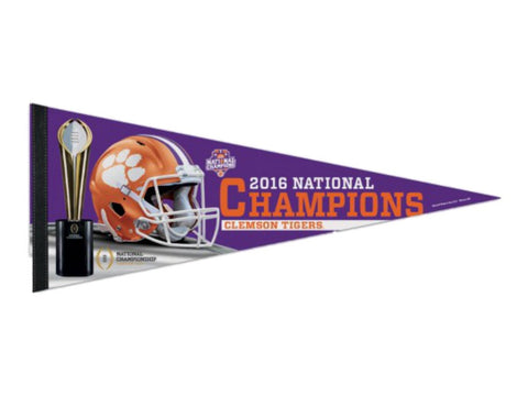"Clemson Tigers 2016 Football National Champions Premium Felt Pennant (12"" x 30"")"