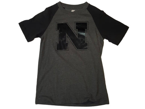 Nebraska Cornhuskers Colosseum Charcoal Gray Black SS Crew Neck T-Shirt (S) - Sporting Up