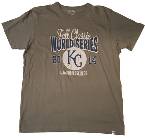 Shop Kansas City Royals 2014 World Series Fall Classic 47 Brand Gray T-Shirt (M)