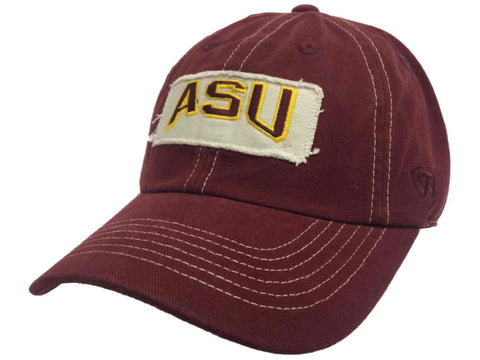 Arizona State Sun Devils TOW Maroon Vintage Retro Canvas Adjustable Hat Cap