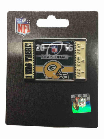 "Green Bay Packers 2016 NFC Divisonal Game ""I Was There!"" Metal Lapel Pin"