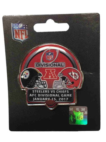 Pittsburgh Steelers Kansas City Chiefs 2017 AFC Divisional Game Metal Lapel Pin