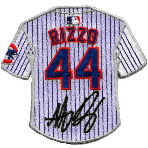 low priced 8363f 8adf7 Chicago Cubs Anthony Rizzo Replica Signature Retro Jersey Sleeve Collector  Patch
