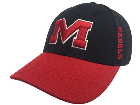 Ole Miss Rebels TOW Navy Red Booster Plus Performance Golf Flexfit Hat Cap - Sporting Up