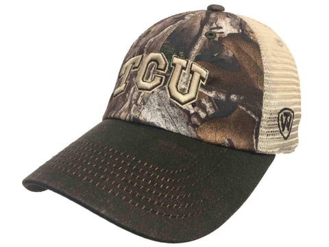 TCU Horned Frogs TOW Camouflage Mesh Logger Adjustable Snapback Hat Cap