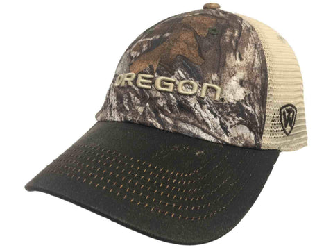 Oregon Ducks TOW Camouflage Mesh Logger Adjustable Snapback Hat Cap