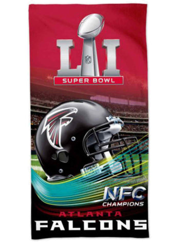 "Shop Atlanta Falcons Super Bowl LI 51 AFC Champions Spectra Beach Towel 30""x60"""