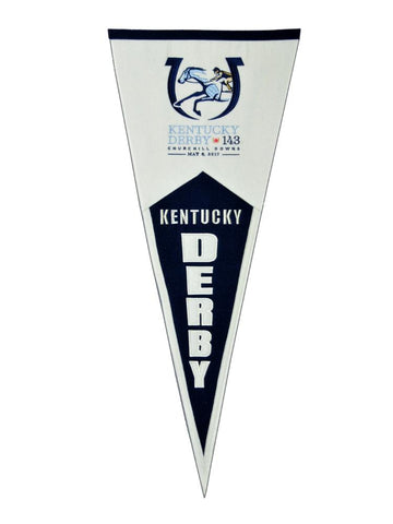 2017 Kentucky Derby Churchill Downs Horse Racing Traditions Wool Pennant