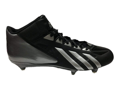 Shop Adidas FilthyQuick MID D Black & Platinum Football Shoes Cleats