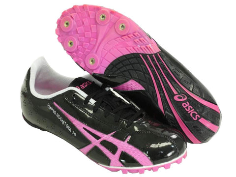 Asics Hyper RocketGirl SP 3 Womens Black Magenta Track Field Cleat Shoes