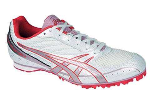 Asics Hyper RocketGirl 4 Women's White Red Pink Track & Field Cleat Shoes