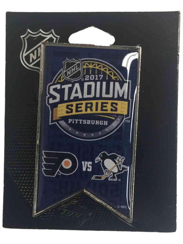 Pittsburgh Penguins Philadelphia Flyers 2017 Stadium Series Dueling Banner Pin