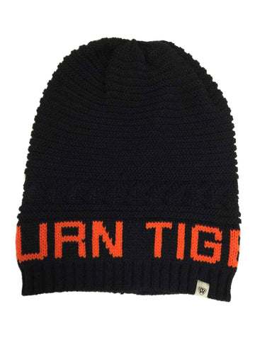 Auburn Tigers TOW Navy Leisure Knit Slouchy Hipster Hanging Beanie Hat Cap