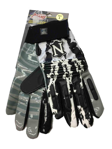 Shop Adams White & Black Football Rage Lineman's Gloves (L)