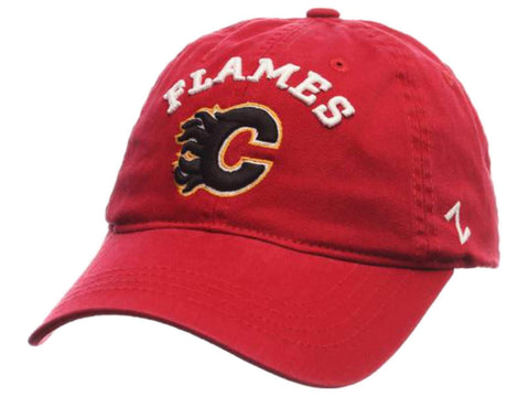 Calgary Flames Zephyr Red Centerpiece Adjustable Strap Slouch Hat Cap