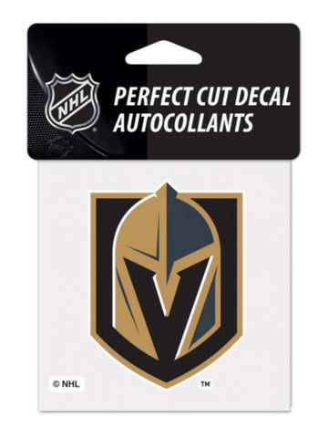 "Las Vegas Golden Knights NHL WinCraft Black & Gold Perfect Cut Decal (4""x4"")"