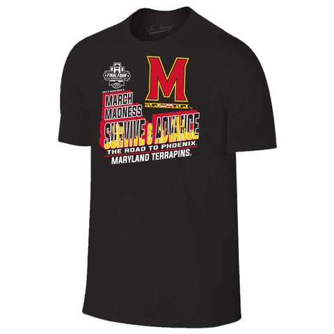 Maryland Terrapins Basketball 2017 March Madness Survive & Advance Black T-Shirt