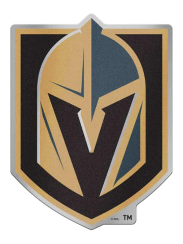 Las Vegas Golden Knights NHL WinCraft Black Steel Gray & Gold Auto Badge Decal