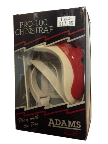 Shop Adams USA Pro 100 Red and White Adult Low Hook Up Football Chin Strap