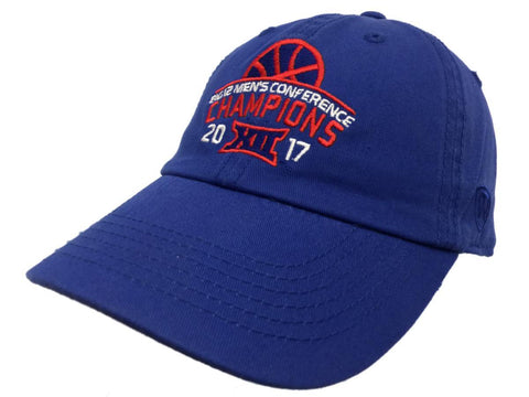 Kansas Jayhawks 2016-2017 Big 12 Conference Basketball Champions Adjust Hat Cap