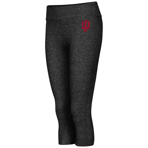 Indiana Hoosiers Colosseum WOMEN Black Thick Band Capri Length Leggings
