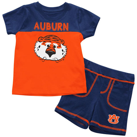 Auburn Tigers Colosseum BABY INFANT Aubie 100% Cotton Shorts & Tee Outfit Set