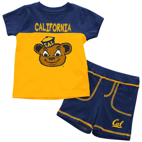 California Golden Bears Colosseum BABY INFANT Cotton Shorts & Tee Outfit Set
